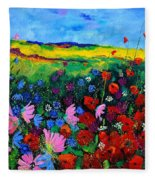 Field Flowers Fleece Blanket