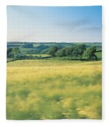 Field Near Barnstaple, North Devon Fleece Blanket