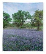 Field Of Bluebonnet Flowers, Texas, Usa Fleece Blanket