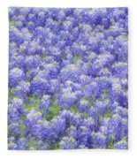 Field Of Bluebonnets Fleece Blanket
