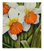 Field Of Daffodils Fleece Blanket