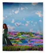Field Of Flowers... Fleece Blanket