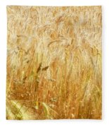 Field Of Gold 1 Fleece Blanket