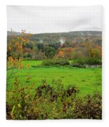 Field Of Green Fleece Blanket