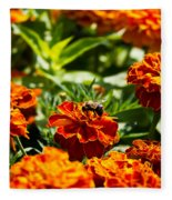 Field Of Marigolds Fleece Blanket