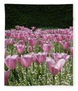 Field Of Pink Fleece Blanket