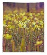 Field Of Pitcher Plants Fleece Blanket