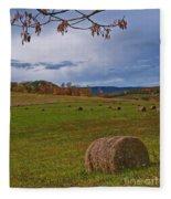 Field Of Round Bales Fleece Blanket