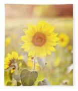 Field Of Sunshine Fleece Blanket