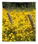 Field Of Yellow Fleece Blanket