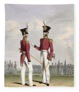 Field Officers Of The Royal Marines Fleece Blanket