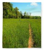 Field Path Fleece Blanket