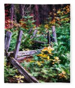 Fields And Fences Of Wawona In Yosemite National Park Fleece Blanket