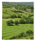 Fields In Northern Ireland Fleece Blanket