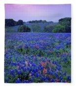 Fields Of Blue Fleece Blanket