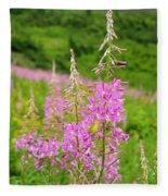 Fields Of Fireweed Fleece Blanket
