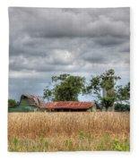 Fields Of Golden Grain Fleece Blanket