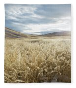 Fields Of Grass In Nevada Desert Fleece Blanket