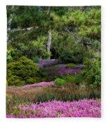 Fields Of Heather Fleece Blanket