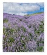Fields Of Lupine 3 Fleece Blanket
