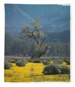 Fields Of Yellow Foxglove Fleece Blanket