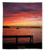 Fiery Afterglow Fleece Blanket
