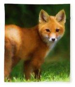 Fiery Fox Fleece Blanket