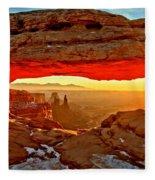 Fiery Morning Fleece Blanket