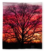 Fiery Oak Fleece Blanket