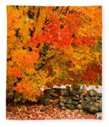 Fiery Rock Wall Fleece Blanket