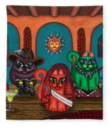 Fiesta Cats II Fleece Blanket