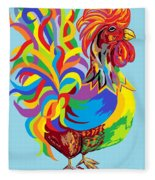 Fiesta Rooster Fleece Blanket