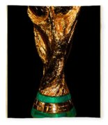 Fifa World Cup Trophy Fleece Blanket