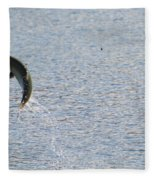 Fighting Chinook Salmon Fleece Blanket