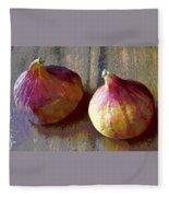 Figs Still Life Pop Art Fleece Blanket