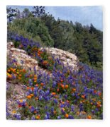 Figueroa Mountain Splendor Fleece Blanket