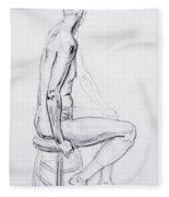 Figure Drawing Study V Fleece Blanket