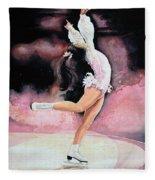 Figure Skater 20 Fleece Blanket