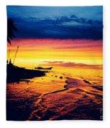 Fiji Paradise Sunset Fleece Blanket