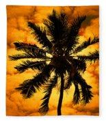 Fijian Sunset Fleece Blanket