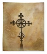 Filigree Cross The Forgotten Series 10 Fleece Blanket