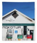 Filling Station, Mokotua, The Catlins Fleece Blanket