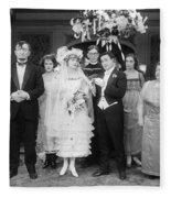 Film Still: By Golly, 1920 Fleece Blanket