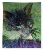 Filtered Cat Fleece Blanket