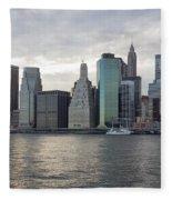 Financial District Skyline Fleece Blanket