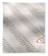 Financial Spreadsheet Fleece Blanket