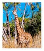 Find The Giraffe Fleece Blanket