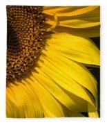 Find The Spider In The Sunflower Fleece Blanket