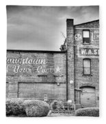 Find Your Coal In Black And White Fleece Blanket