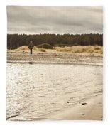 Findhorn Beach Fleece Blanket